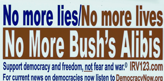 No More Lives, No More Bush Alibis